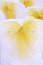 100% polyester cheap wedding chair covers