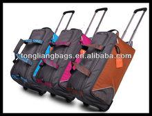 good quality new desigh fashion rolling bag duffel bag with wheels trolley travel bag