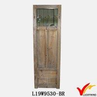 Door shape free standing antique wood rack display shelf
