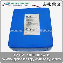 lifepo4 12v 100ah solar storage battery pack