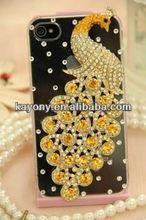 Peacock phoenix diamond shell phone case for LG p970 p990 E400