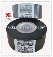 FC3 Type Black Color 30mm*120m Hot Ribbon used on hot foil ribbon printing machine