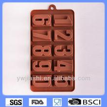 Letras e número mould, Siliconechocolate molde