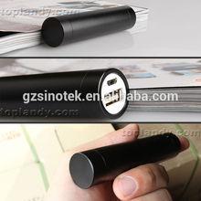 SINOTEK tube 2200-2600 mAh lipstick cell phone charger