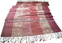 antigüedades chales de seda de la india