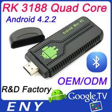 New model UG007B Quad Core Android 4.2 RK3188 mini pc android combo tv box Bluetooth WIFI HDMI
