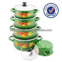 customer design enamel casserole 673EDG enamelware pot kitchenware hot pot