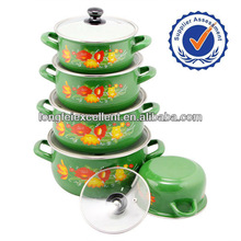 customer design enamel casserole 673EDG enamelware pot kitchenware hot pot