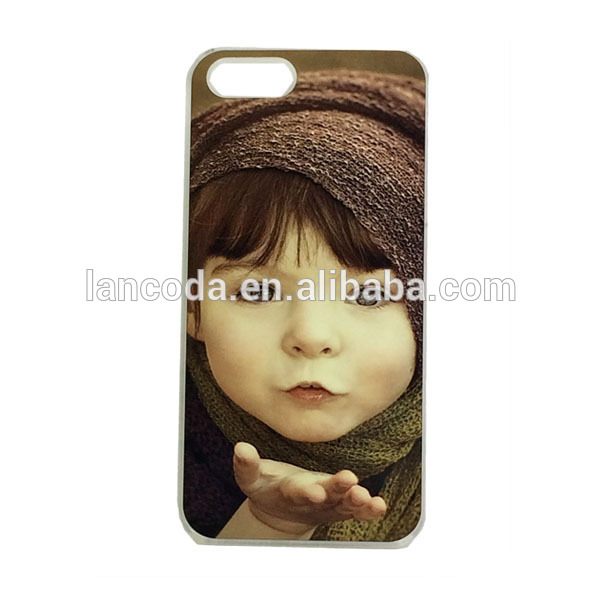New Sublimation Case for iphone5 cell phone case cover,with metal insert