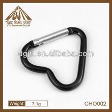 Fashion metal black heart carabiner