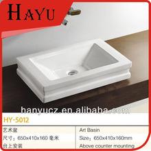 HY-5012 Ceramic washing rectangular shape bathroom basin