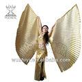 Danza del vientre trajes de accesorios, nueva india sexy danza del vientre alas, el rendimiento de escenario de la mariposa de oro grande alas de isis( dj1008- 1)