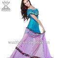 2014 trajes dança do ventre vestido, azul royal lantejoulas desempenho roupas para dança( qc2038)