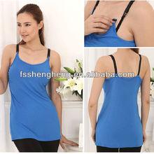 Hot sales Blue camisole nursing bra clothes BK029