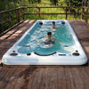 Balboa system portable rectangular fiberglass swimming pool with massage spa jets