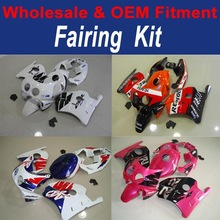 FOR HONDA CBR250R MC22 MOTORCYCLE PLASTIC KIT PINK AND BLACK FFKHD029