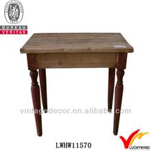 antique original primitive vintage square wood base lamp table
