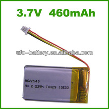 3.7v 460mAh lithium polymer battery,battery pack,rechargeable battery for GPS,DVD,PDA