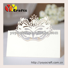hot sale popular customizable christmas decoration laser cut place cards