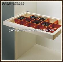 China manufacturer aluminum profile furniture design soft closing storage box HS007