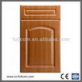 De madera del grano de pvc gabinete de cocina puerta fk- 345#