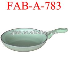 Aluminum Honeycomb frying pan in cream green