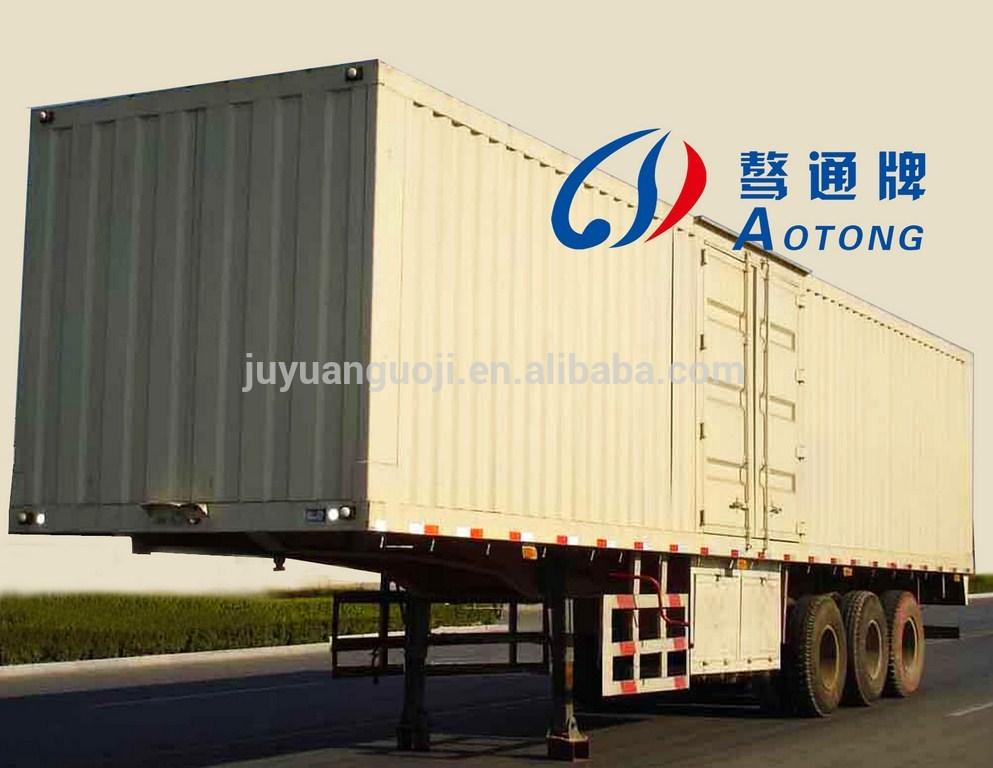 China Enclosed Van/Cargo Trailer (Semi Closed, Open Style Optional)