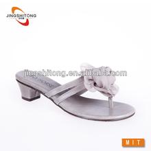 Chunky heel silk flower beach wedding favors flip flops