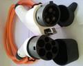 Veículo eléctrico( ev) cabo de carregamento/cabo sae j1772& ev cabo de carga tipo 2 para tipo 1