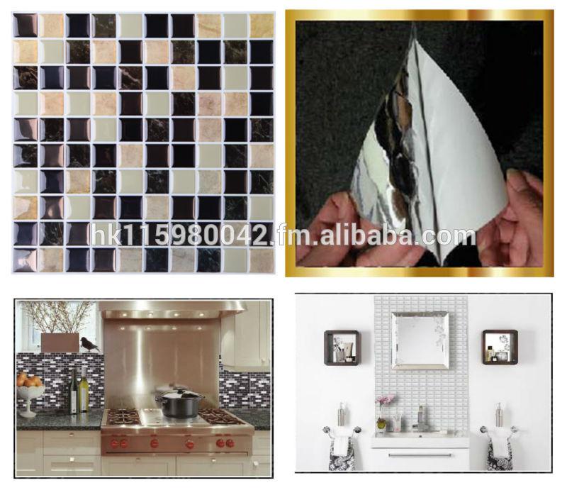 DIY self adhesive 3D gel mosaic wall tile