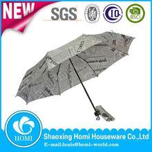 Newspaper Printed Metal Frame Umbrella Description Payung