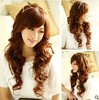 2014 bright brown synthetic long wavy wig