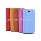 Classic wood textured pu case for iphone 5/5s