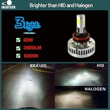 Better than xenon hid kit 40W 3600 Lumen H4 H7 H8 H9 H10 H11 9005 9006 led auto light