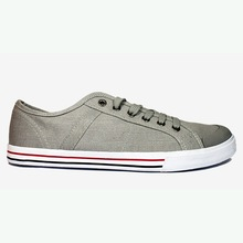 Grey lace up casual shoes for men