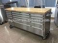 72 de acero inoxidable caja de herramientas con madera superior