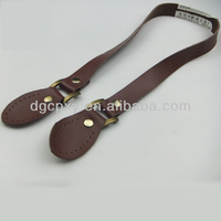 Dark Brown Genuine Leather Handle China Direct Supplier Handbag Handle With Bag Accessories