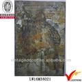 nuevos productos para 2014 de metal shabby chic búho placa decorativa con expresiones