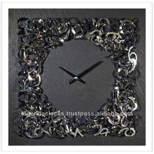 Crystal wall clock, handmade decorative wall clock, designer clock