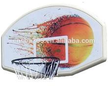 height basketball hoop backboard