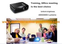 4500 lumens short throw projector,full hd data show short throw projector for Education, family cinema