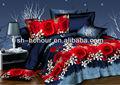 la flor de la flor 3d venta al por mayor de retazos de algodón bedsheet poliéster china