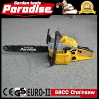 CE Certificated Garden Tools Cheap Price Chainsaws 58cc Wood Cutting Hand Tools