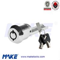 game machine tubular key locking insert