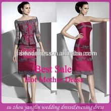 c513 alta qualidade mãe da noiva vestidos de renda com jaqueta
