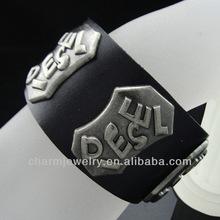"Wide Genuine Leather Mens Bangle Cuff Bracelet For Unisex Men Women Fits 7.5"" to 8.5"" BGL-002"