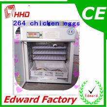 Certificado CE 264 ovos de galinha incubadora automática Industrial para galinhas
