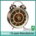 3 tamaño de cuarzo de antigüedades de latón tabla twin bell alarma retro reloj