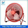 Venta caliente mini usb ventilador de escritorio de hierro y aluminio& la hoja y el certificado del ce, rohs, ccc