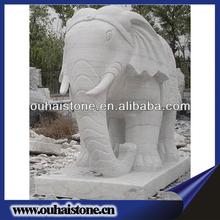 Handmade granite animal statues elephant carvings for landscaping